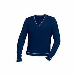 BLUE COTTON Full Sleeve School Sweater
