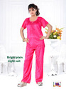 Full Length Satin Ladies Night Suit