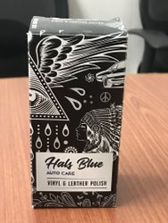 Hals Blue Vinyl Leather Polish