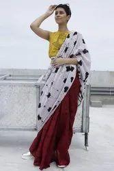 Bagru Batik Print Cotton Mulmul Saree