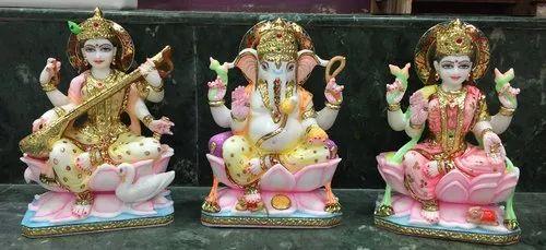Ganesha, Lakshmi and Saraswati Murti