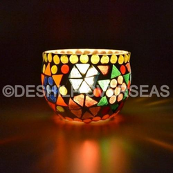 Mosaic Multi Color Votive