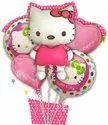 Podcart Hello Kitty  Theme Foil Balloons ( Set Of 5 )