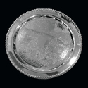 Silver Platted Round Dotted Tray