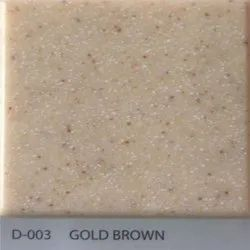 Gold Brown Acrylic Solid Surface