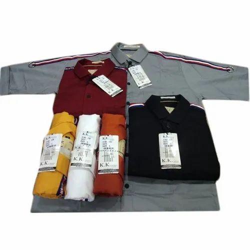 Ajanta KK Mens Party Wear Cotton Plain Shirt