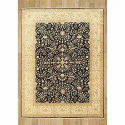 Black Printed Hadji Jalili Carpet