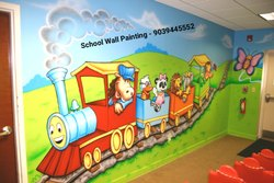 Indore School Cartoon Wall Painting
