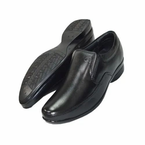 Black Alive Men Leather Formal Shoe, Size: 7-10, Rs 990