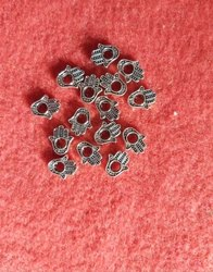 Hamsha beads silver 925 beads, Size: 10x5mm