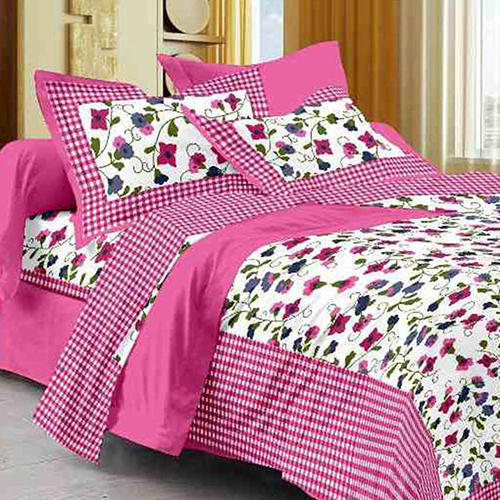 Double Bed Fl Printed Bedsheet