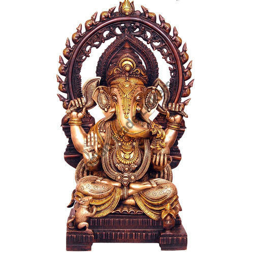 Religious Statues - Solid Brass Ganesh Statue Retailer from