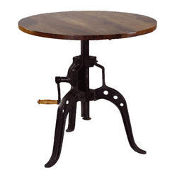 Industrial Vintage Crank Table