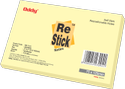 Oddy Re-Stick Notes (Yellow) - 1.5x2 inches to 3x5 inches