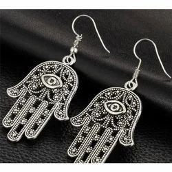 Ozanoo Party Wear German Silver Fashion Earring