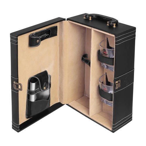 Black - 02 Travel Bar Set, Packaging Type: Box, For Home