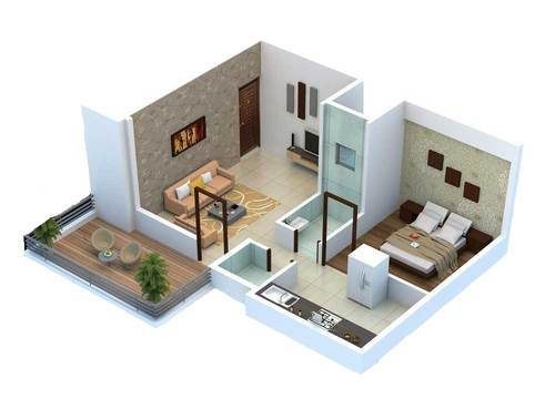 Decormyplace Home Pvt Ltd Architect Interior Design Town Planner Of 1 Bhk Flat 2 Bhk Flat From Pune