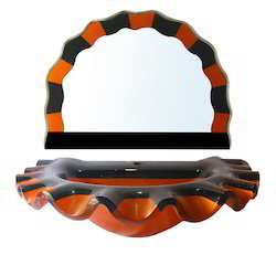 Sun Shape Glass Wash Basin With Mirror