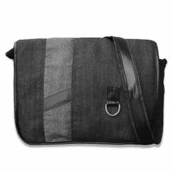 Diyaras Black Denim Laptop Bag
