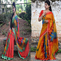 Party Wear Kota Silk Satin Border Saree