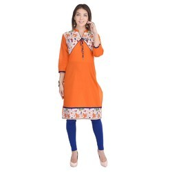 Regular 3/4 sleeve Jaipuri cotton  Kurti