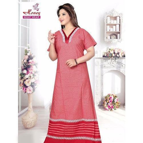 Plain Cotton Nightgown at Rs 160  piece  c7ba943f3