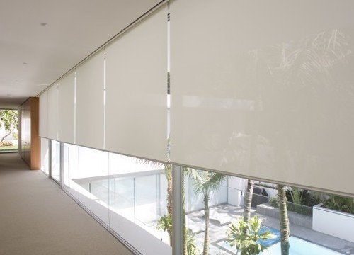 Brown Horizontal Sunscreen Roller Blinds Rs 55 Square
