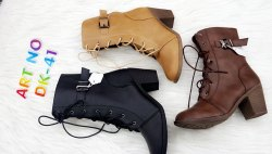 Women Leather Long Boots, Size: 36-41