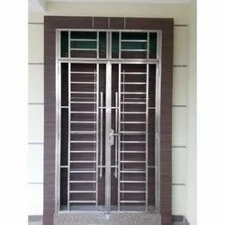 6-8 Feet Polished SS Safety Door Grill