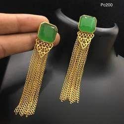 Green Hanging Earring