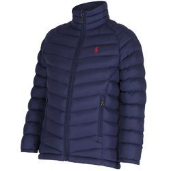 Full Sleeves Navy Blue Kids Puffer Jackets