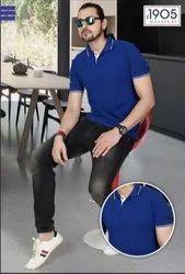 Mafatlal Premium T-shirt (Royal blue white