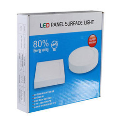 White and Blue LED Panel Light Packaging Box