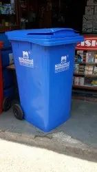 Plastic Green Wheel Dustbin