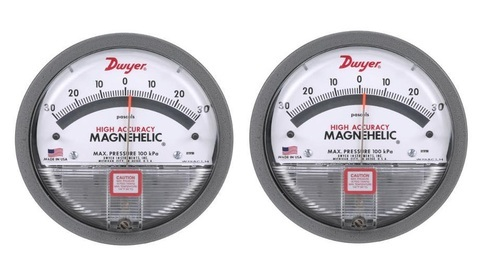 0-2.0w.c. /& 0-500 Pa Dwyer 2002D Magnehelic Differential Pressure Gauge