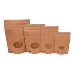 Plain Brown Paper Bag With Zipper