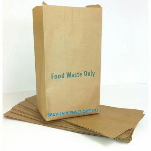Brown Food Waste Paper Bag Capacity 500gm And 1kg