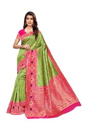 Festive Wear Banarasi Silk Saree, with Blouse Piece
