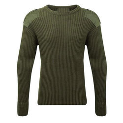 Round Neck Army Sweater, Size:  L