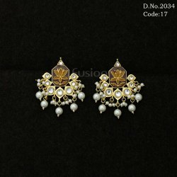 Antique Designer Kundan Pearl Earring