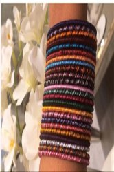Light Weight Multi Color Trendy Girlish Women Fashion Handmade Daily Wear Silk Thread  Bangles