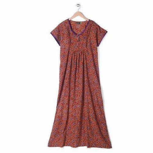 2198a12d19 Nighties Printed Ladies Cotton Nighty, Rs 150 /piece, J. J. Textiles ...