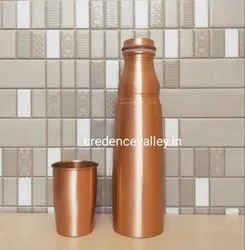 Copper Bottle With Inbuilt Glass