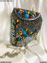 Trendy Designer Metal Mosaic Clutch