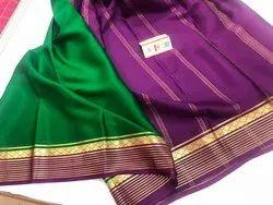 Mysore Silk Sarees, Length: 6 m