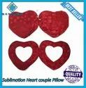 Sublimation Heart Couple Pillow