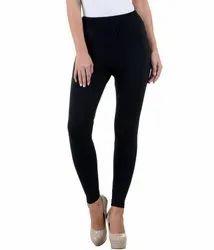 Ankle Length Cotton Lycra Leggings For Woman
