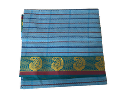 Hand Block Prints Formal Wear Cotton Sarees, With blouse piece, 6.20