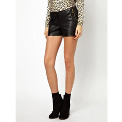 Ladies Designer Leather Short