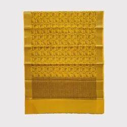 Yellow Resham Jari Chanderi Silk Saree